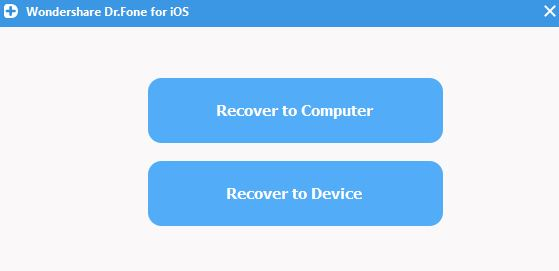 recover to device or computer
