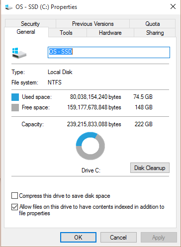 Windows 10 disk cleanup Windows old