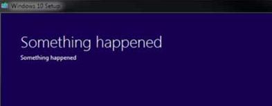 Windows 10 something happenend