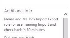 please add mailbox import export role