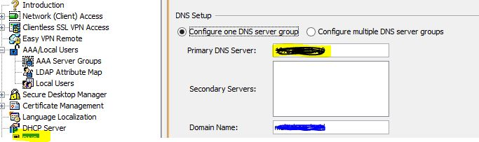 cisco anyconnect change DNS