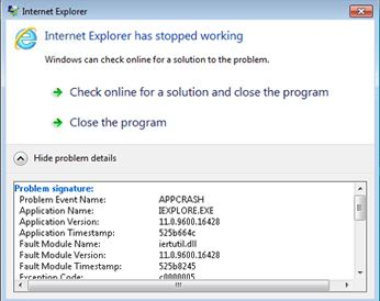 outlook plugins crash internet explorer