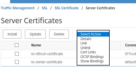 link netscaler certificate