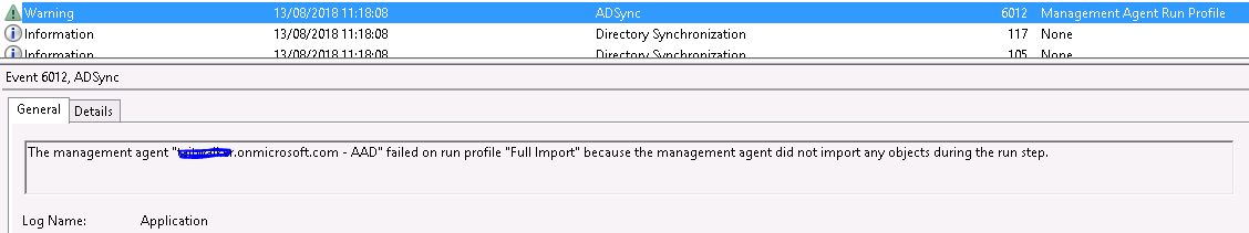 No-Start-MA Azure AD Connect Synchronization